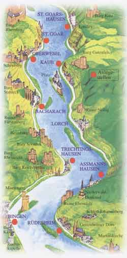 Bacharach, Romantik, Mittelrhein, Ferienwohnung, loreley, Rhein